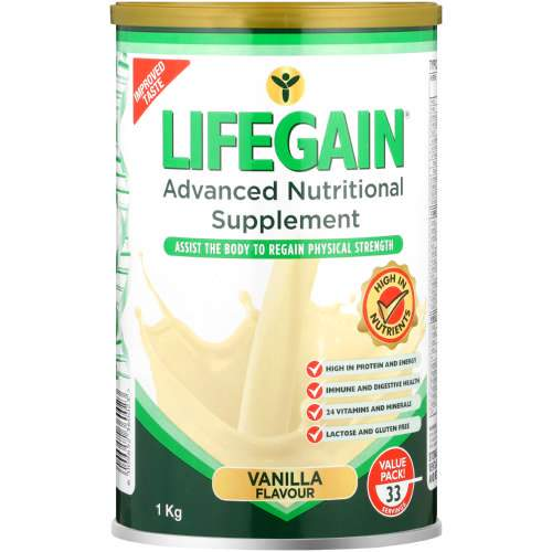 Lifegain Vanilla Powder 1Kg Helderberg Medical