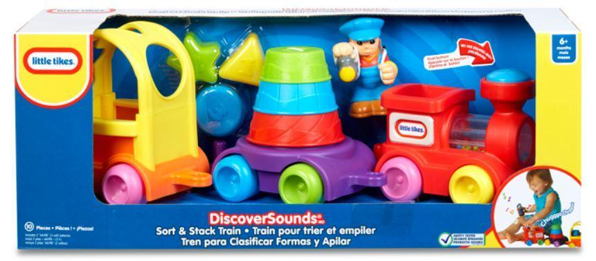 Little Tikes Discover Sounds Sort & Stack Train Prima Toys
