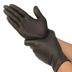 MX Ultra Nitrile Latex Free / Allergy Free Gloves Pack Of 100 - Black Exclusivebrandsonline