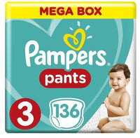 Pampers Active Baby Dry Size 3 Mega Box 136 Pants