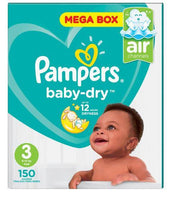 Pampers Active Baby Dry Size 3 Mega Pack 150