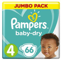 Pampers Active Baby-Dry Size 4 Jumbo Pack 66 Nappies
