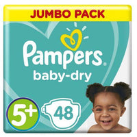 Pampers Active Baby-Dry Size 5+ Jumbo Pack 48 Nappies