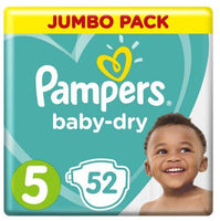 Pampers Active Baby-Dry Size 5 Jumbo Pack 52 Nappies
