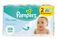 PAMPERS BABY WIPES FRESH ECONOMY 64'S X2