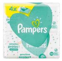 PAMPERS BABY WIPES SENSITIVE 56'S X4