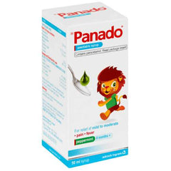 Panado Paediatric Syrup Peppermint 50ml Helderberg Medical