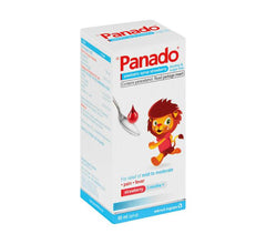 Panado Paediatric Syrup Strawberry Alcohol & Sugar Free 50ml Helderberg Medical