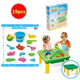 Sand & Water Table 19pcs With Cover Exclusivebrandsonline