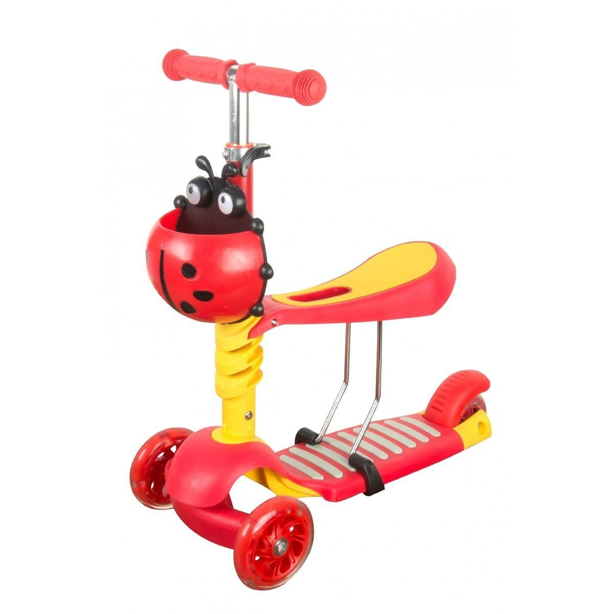 Scuttlebug 3 in 1 Scooter - Red Exclusivebrandsonline