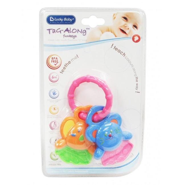 Soft Beginnings Tag-Along Funkey Animal Teether-Ring Exclusivebrandsonline