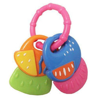 Soft Beginnings Tag-Along Funkey Fruits Teether-Ring