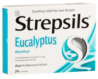Strepsils Throat Lozenges Eucalyptus 24