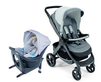 Stylego Up Crossover & Oasys i-size Bebecare Travel System – Grey