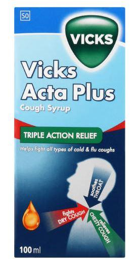 Vicks Acta Plus Cough Syrup 100ml Helderberg Medical