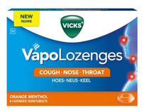 Vicks Vapolozenges Orange 8 Lozenges
