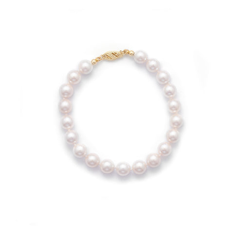 "7"" 7-7.5mm Grade AAA Cultured Akoya Pearl Bracelet"