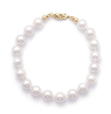 "8"" 7.5-8mm Grade AAA Cultured Akoya Pearl Bracelet"