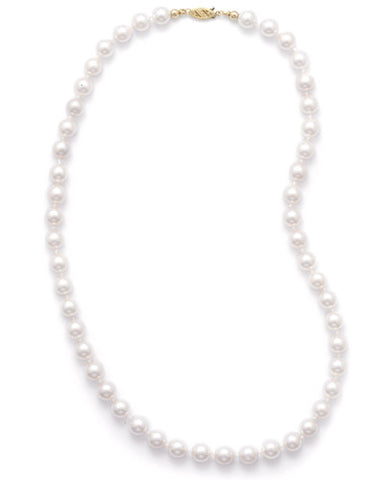 "16"" 7.5-8mm Grade AAA Cultured Akoya Pearl Necklace"