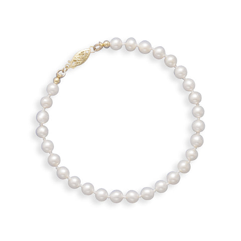 "7"" 5-5.5mm Cultured Freshwater Pearl Bracelet"