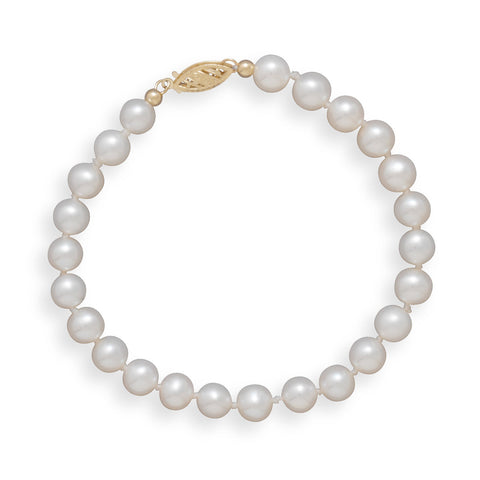 "7"" 5.5-6mm Cultured Freshwater Pearl Bracelet"