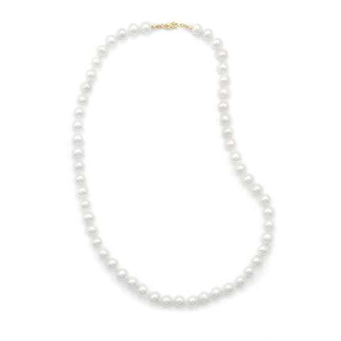 "16"" 7-7.5mm Cultured Freshwater Pearl Necklace"