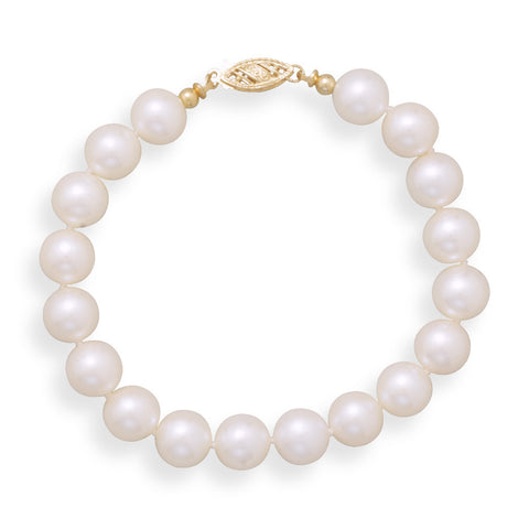"7"" 8-8.5mm Cultured Freshwater Pearl Bracelet"