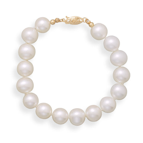 "7"" 8.5-9mm Cultured Freshwater Pearl Bracelet"