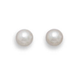 Grade AAA 4.5-5mm Cultured Akoya Pearl Earrings with White Gold Posts and Earring Backs