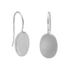 11mm Oval Engravable Earrings