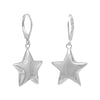 Puffed Star on Lever Earrings