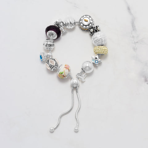 Adjustable Charm Capable Bolo Bracelet