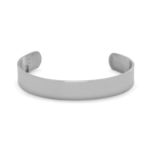 Stainless Steel Men's Polished Cuff Bracelet