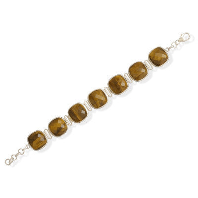 Faceted Tiger's Eye Bracelet