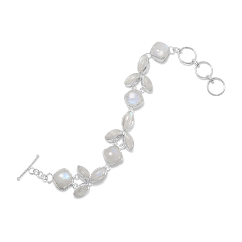 "8""+1"" Extension Rainbow Moonstone Bracelet"