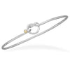 Two Tone Knot Hook Bangle