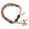 "7.25""+1"" Braided Multicord Bracelet with Smoky Quartz"