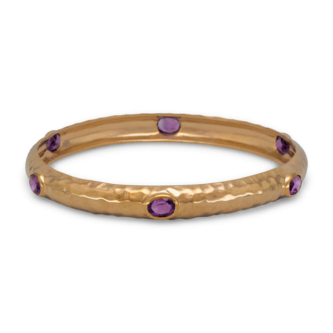 Bronze and Amethyst Bangle