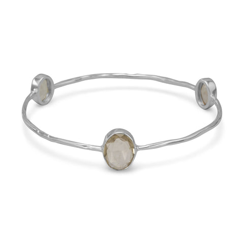 Lemon Quartz Stackable Bangle