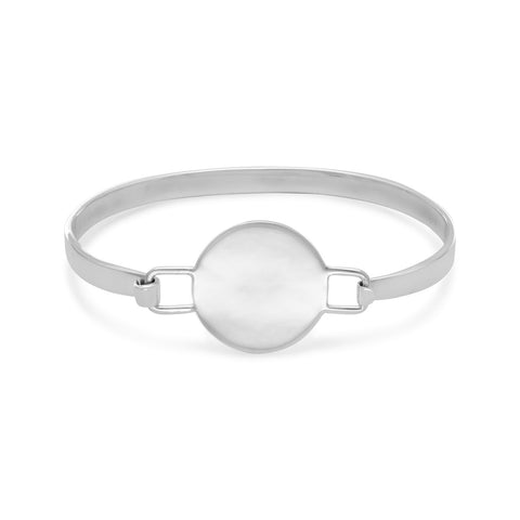 Round Engravable Tag Bangle