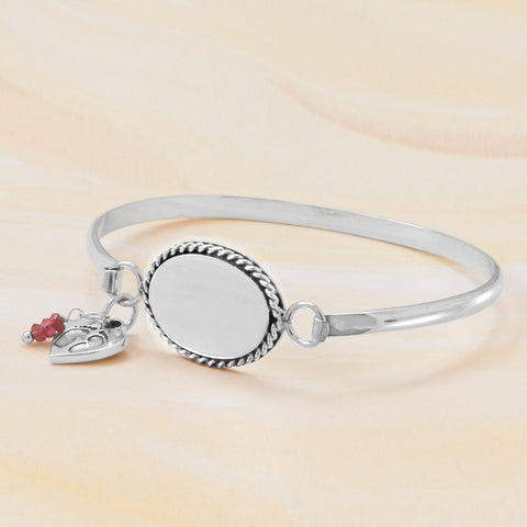 Heart Charm with Baby Footprints