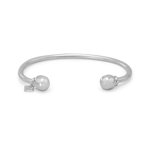 "5.5"" Charm Cuff with Removable Ball End"
