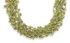 "17"" 10 Strand Light and Dark Green Multistone Necklace"