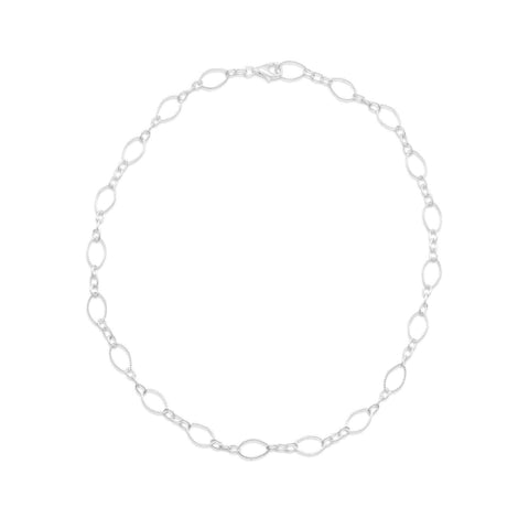 "16"" Twist and Polished Link Chain Necklace"