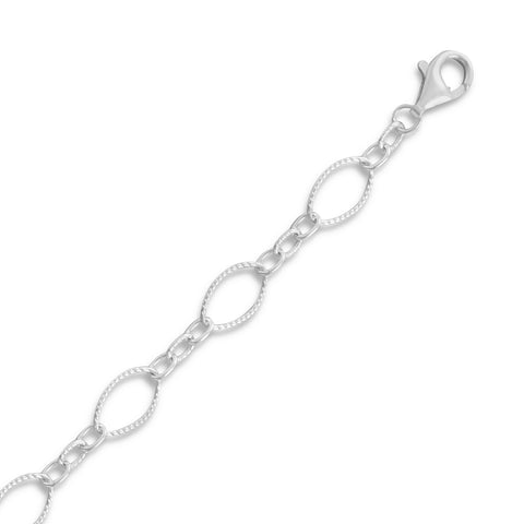 Twist and Polished Link Chain Necklace