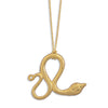 "16""+2"" 14 Karat Gold Plated Necklace with Snake Pendant"