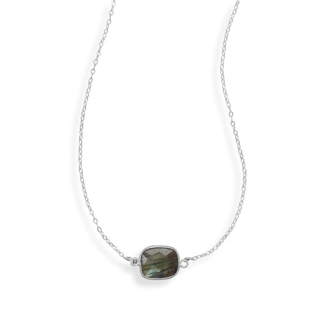 "16""+2"" Labradorite Necklace"