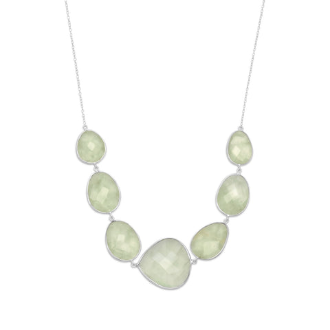 "18""+2"" Prehnite Necklace"