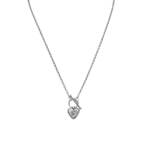 "18"" Heart Toggle Necklace"