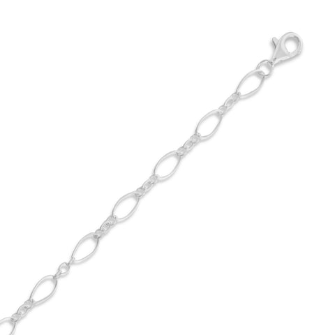 Multisize Oval Link Chain Necklace (4mm)